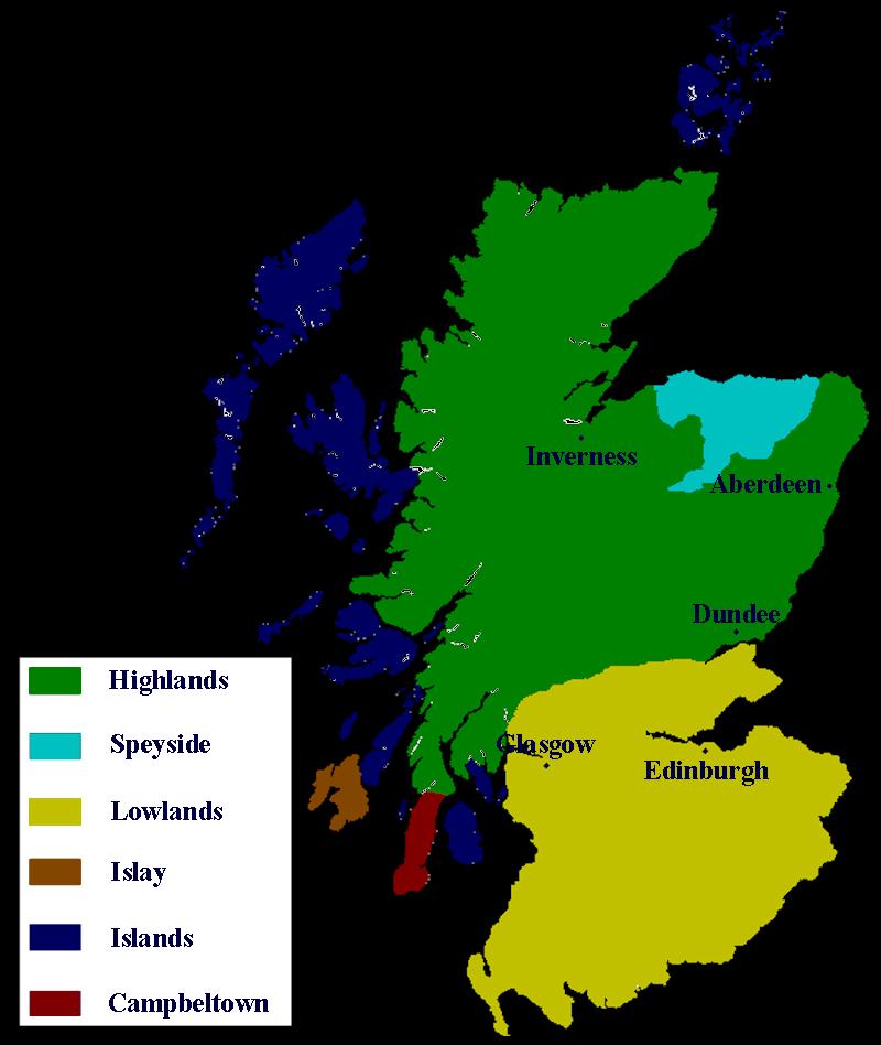 Schottland Karte Whisky.Whisky Tasting Informationen Zu Den Whisky Regionen Schottlands