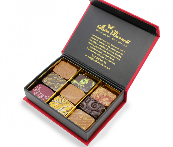 Award Winning Selection - Box of 9 chocolates von Iain Burnett